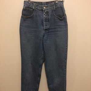 Lawman Vintage High Waisted Mom Jeans with Buttons